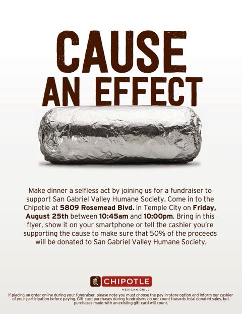 Chipotle Aug 25th